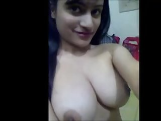 Desi babe showing yummy boobs and pussy with erotic talk.